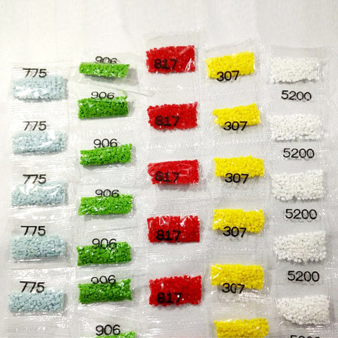 ROUND DRILLS x 6 packets (approx 200 drills per packet).  PRICE INCLUDES POSTAGE WITHIN AUSTRALIA