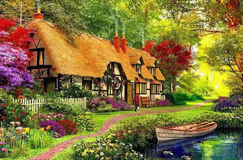 Special Order - Thatched Cottage - Full Drill Diamond Painting - Specially ordered for you. Delivery is approximately 4 - 6 weeks.
