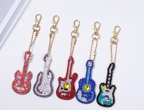 Diamond Painting Keychains - GUITARS - Set of 5