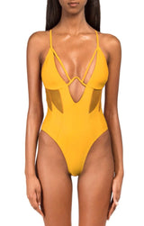 TORI Yellow One Piece Swimsuit