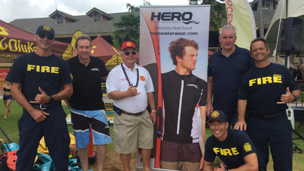 Hero showcases at Water Safety Week in Kaui County Hawaii