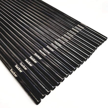 Load image into Gallery viewer, 20 SuckerStraws reusable metal straws in a neat row showing the brand name. SuckerStraws are bulk wholesale reusable metal straws for bars and restaurants available worldwide.