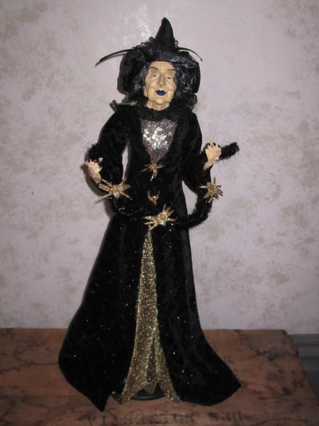 Spin a Spider Witch Whimsical Witch Doll