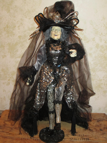 Spiderella Witch Whimsical Witch Doll
