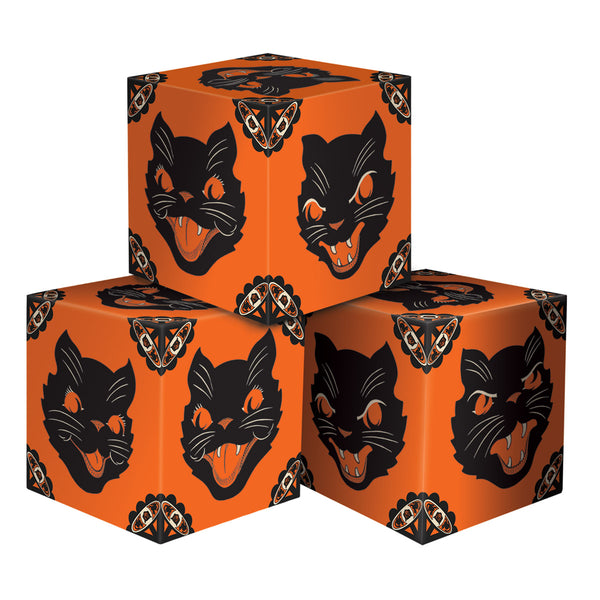 Spooky Cat Party Favor Boxes (3pc)