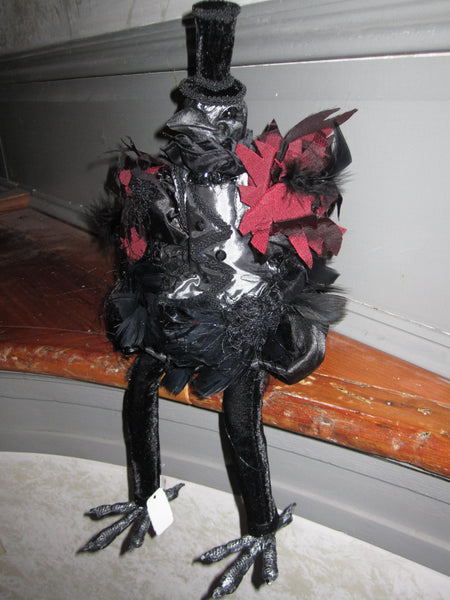 Crow Doll - Grey - Katherine's Collection