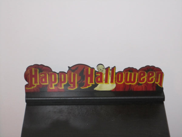 Happy Halloween Ghost Vintage Sign