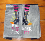 If the Witch Shoe Fits Dishtowel