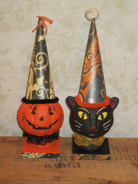 Cat & Pumpkin Party Bust Set - Halloween