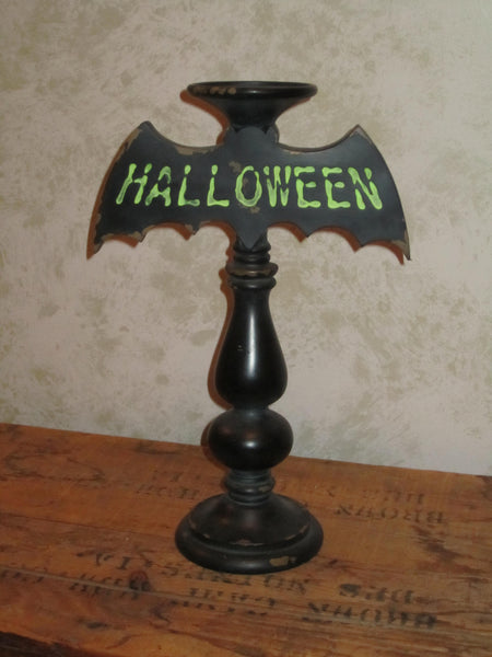 HALLOWEEN Bat Tabletop Candleholder