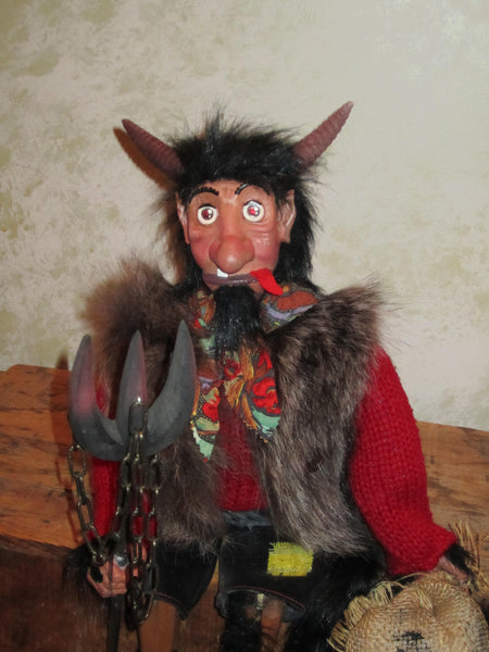 Sitting European Devil Doll