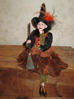 Laughing Little Witch Whimsical Witch Doll