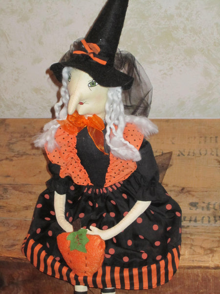 Cutie Pie Plush Witch Doll
