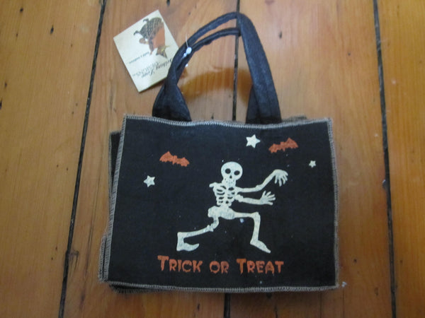 Skeleton Mini Trick or Treat Bag - Bethany Lowe