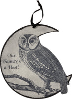 Our Family's A Hoot - Owl Wall Sign
