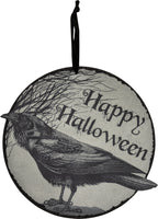 Happy Halloween Crow Wall Sign