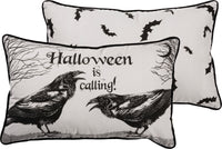 Halloween is Calling - Large raven pillow