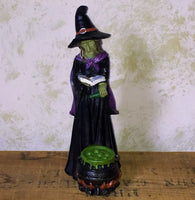 Potion Casting Witch Figure with Cauldron