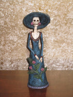 Day of the Dead Female with Flowers Figure