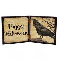 Spooky Crow Halloween Sign