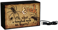 Eeek Spiders - Light Box Sign - Halloween