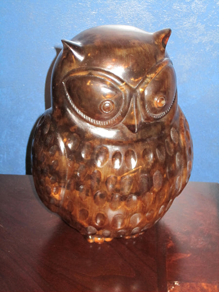 Brown Owl Lamp - Autumn Fall Decor