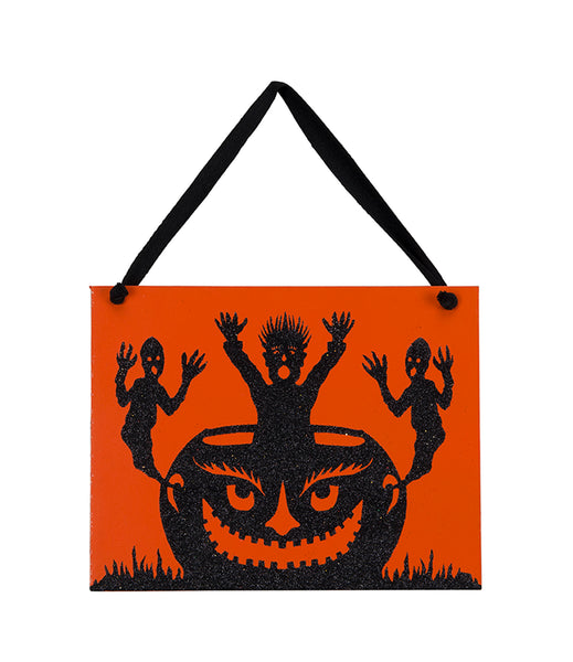 Boo Sign - Wooden - Vintage Halloween