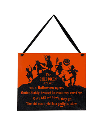 The Children - Halloween Vintage Sign