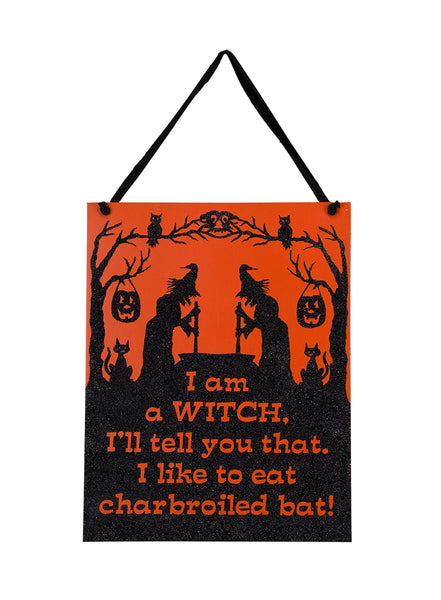 I am a Witch - Vintage Halloween Sign
