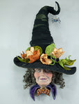 Pumpkin Parch Witch Head Wall Piece  - Katherine's Collection