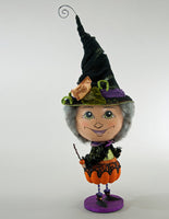 Pumpkin Patch Witch Candy Container - Katherine's Collection