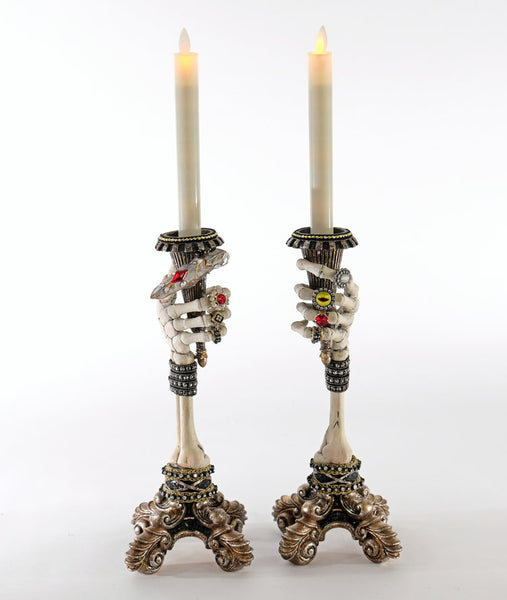Skeleton hand Candlesticks - Katherine's Collection