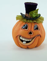 Short Carved Pumpkin Face - Katherine's Collection