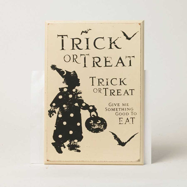 Trick or Treat Wall Plaque