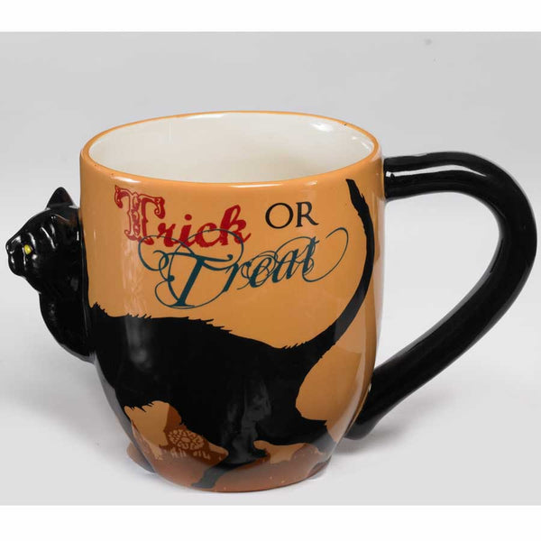 Halloween Black Cat Coffee Mug