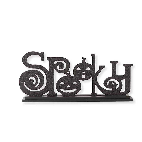 SPOOKY Vintage laser-cut Sign