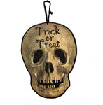 Trick or Treat Skull Sign