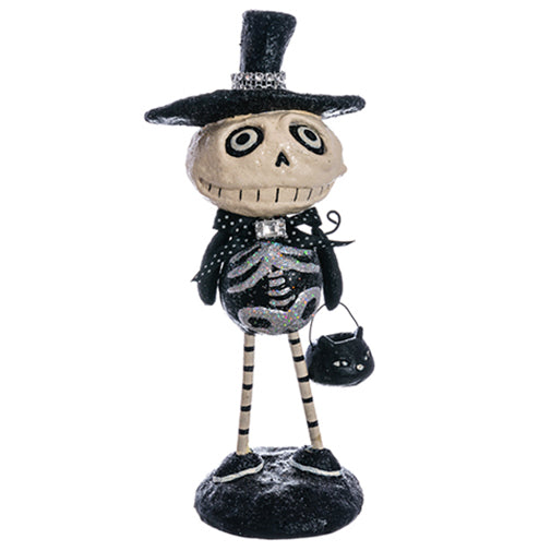 Skeleton Trick-or-Treater Figure