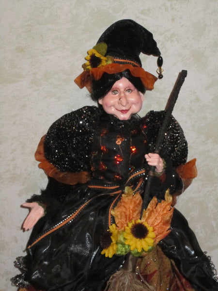 Autumn Witch Whimsical Doll - Halloween