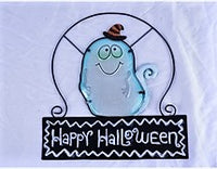 Stained Glass Ghost Window sign