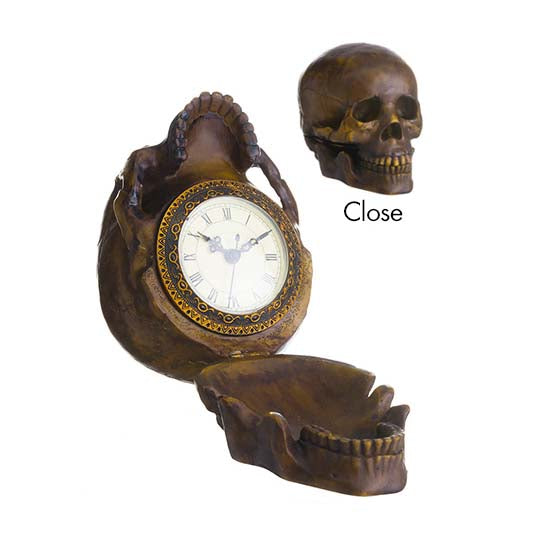 Skull on the Mantle Clock