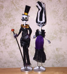 Party Skeleton Couple figure set