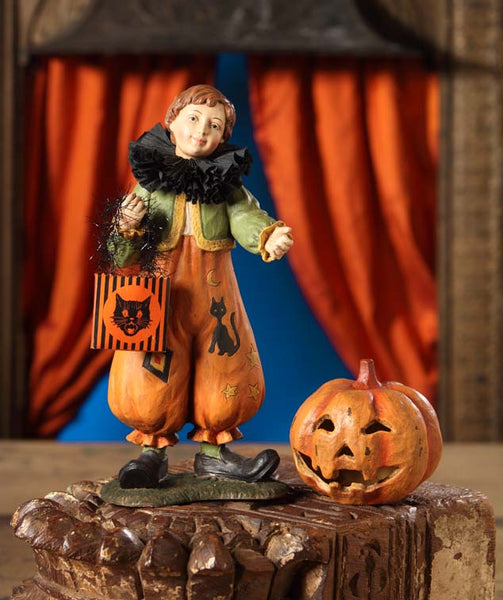 Pumkinhead Clown Boy Figure  -  Bethany Lowe