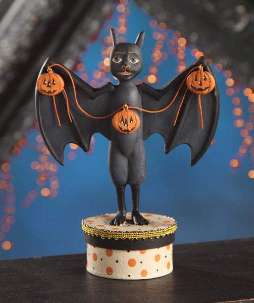 Haunted Halls Bat Figure - Bethany Lowe