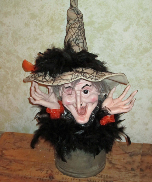 Giant Witch Head on Tin Bust