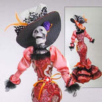 Red Day of the Dead Doll - Katherine's Collection