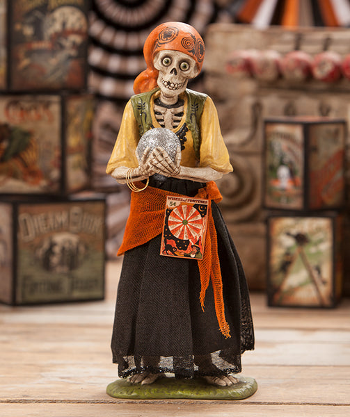 Skeleton Gypsy Figure - Bethany Lowe
