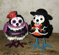 Day of the Dead Bird Set