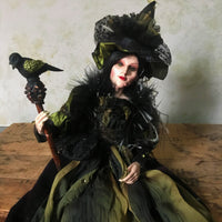 Glinda Greenwood Whimsical Witch Doll