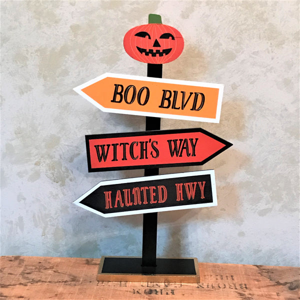 Which Way Halloween Tabletop Sign
